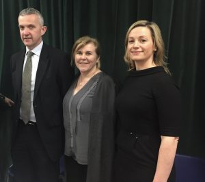 Prof Donal O'Shea , Nicola O'Byrne IBCLC and Cathy Monaghan.